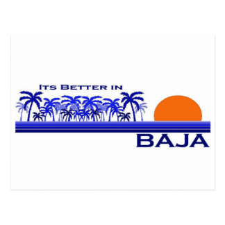 It's Better in Baja Postcard