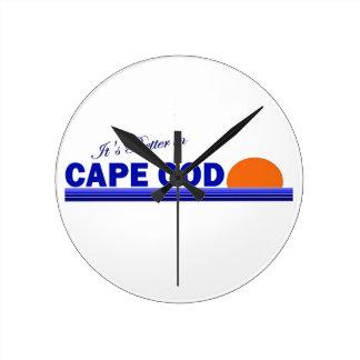It's Better in Cape Cod Round Clocks