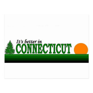 Its Better in Connecticut Postcard