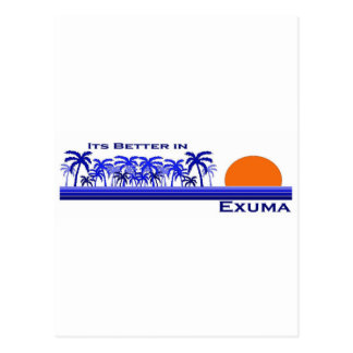 Its Better in Exuma, Bahamas Postcard