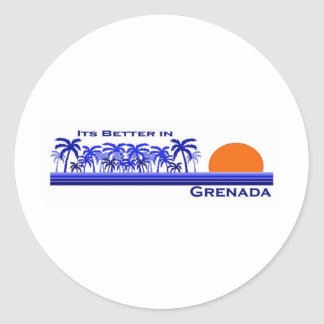 Its Better in Grenada Classic Round Sticker
