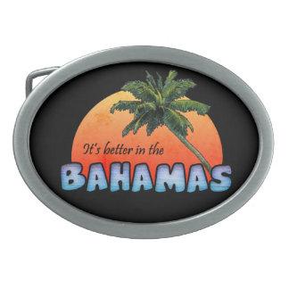 It's better in the Bahamas Oval Belt Buckle