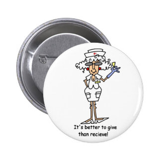 It's better to give than recieve! pinback button