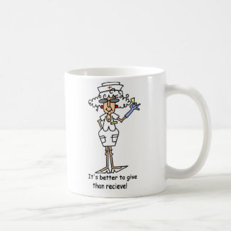 It's better to give than recieve! coffee mug
