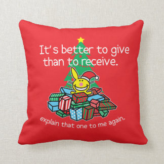 It's Better To Give Throw Pillow