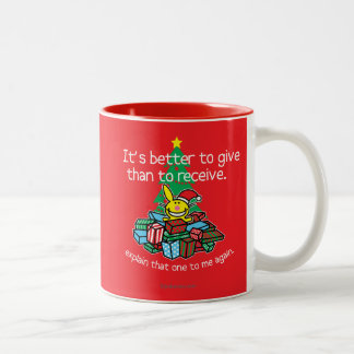 It's Better To Give Two-Tone Coffee Mug