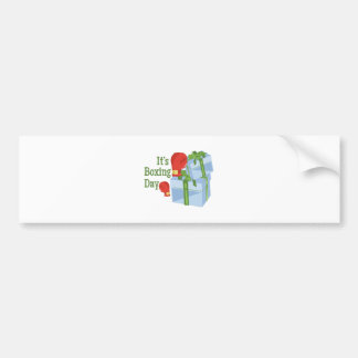 Its Boxing Day Bumper Sticker