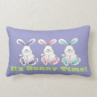 It's Bunny Time pillow