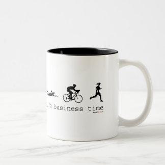 It's Business Time Two-Tone Coffee Mug
