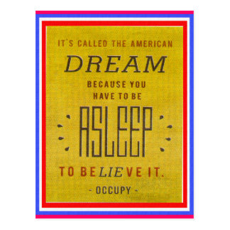 It's Called American Dream Occupy Wall Street Postcard