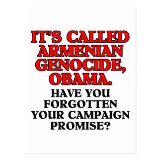 It's called Armenian genocide, postcard