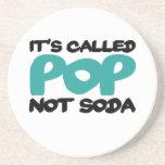 It's called pop not soda drink coasters