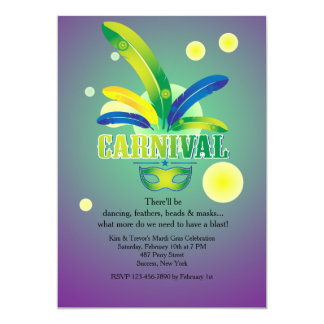 It's Carnival Time Invitation