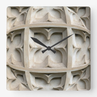 Its carved in stone! square wall clock
