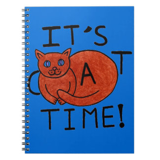 It's Cat Time! Spiral Notebook