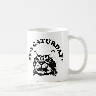 It's Caturday Classic White Coffee Mug