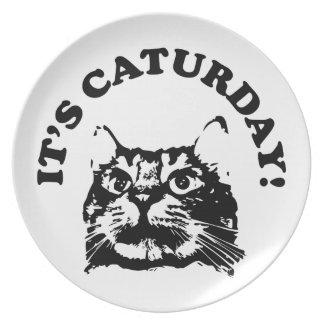 It's Caturday! Plate