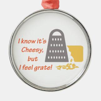 Its Cheesy Metal Ornament