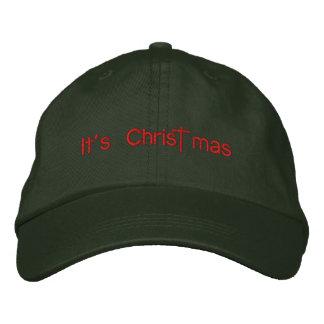 It's Christ mas Embroidered Baseball Cap