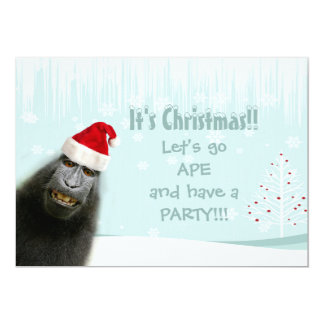 It's Christmas! Let's Go Ape and have a Party!! Card