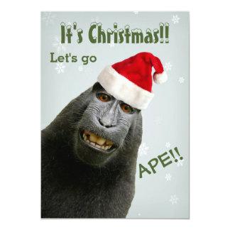 It's Christmas! Let's Go Ape!! Card
