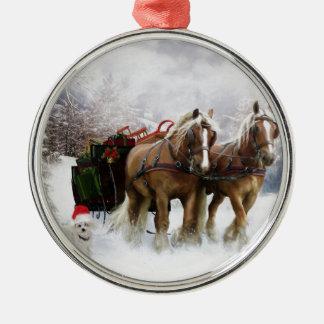 It's Christmas Round Metal Christmas Ornament