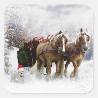 It's Christmas Square Sticker