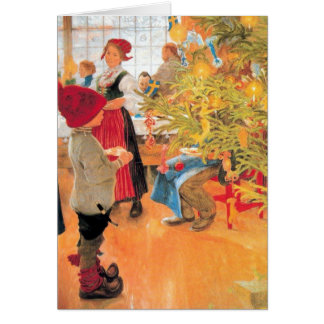 It's Christmas Time Again - Boy Looking at Tree Cards