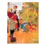 It's Christmas Time Again - Boy Looking at Tree Post Card