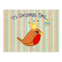 Its Christmas Time Bird Postcard