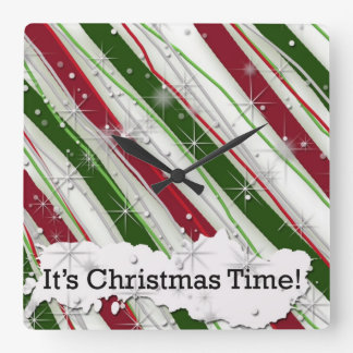 It's Christmas Time Decorative Wall Clock