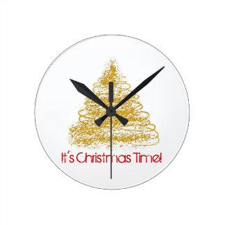 It's Christmas Time Seasonal Tree Clock