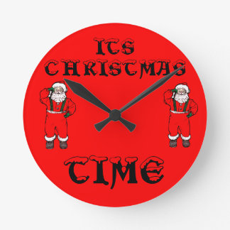 Its Christmas Time Wall Clocks