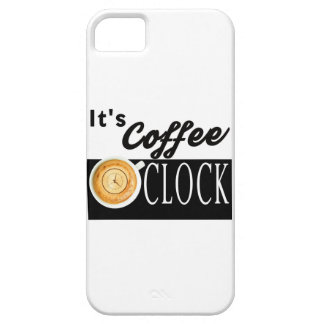 it's coffee o'clock text clock cup hipster message iPhone SE/5/5s case
