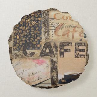 It's Coffeetime Round Pillow
