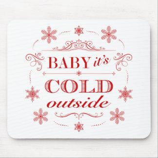 It's Cold Outside Winter Celebration Vintage Style Mouse Pad
