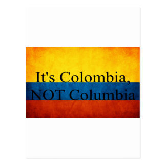 It's Colombia, NOT Columbia Postcard