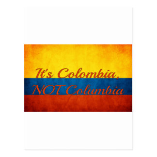 """It's Colombia, Not Columbia"" Postcard"