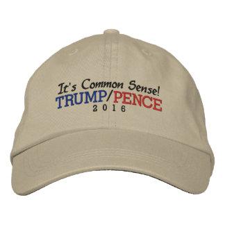 It's Common Sense Trump Pence 2016 Embroidered Baseball Cap