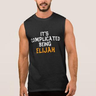 It's complicated being Elijiah Sleeveless T-shirt