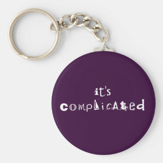 Its Complicated Button: Basic Round Button Keychain