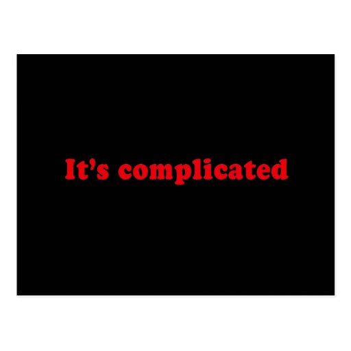 IT'S COMPLICATED POSTCARD