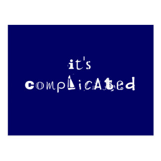 Its Complicated Postcard