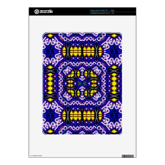 Its Complicated Purple Yellow Symetrical Pattern Decal For iPad