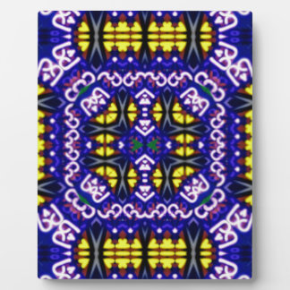Its Complicated Purple Yellow Symetrical Pattern Plaque