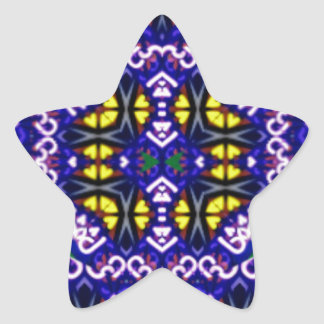 Its Complicated Purple Yellow Symetrical Pattern Star Sticker