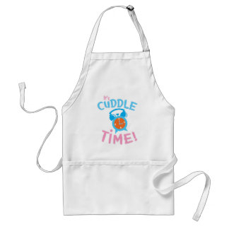 It's cuddle time with cute clock adult apron