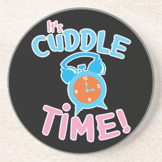 It's cuddle time with cute clock coaster