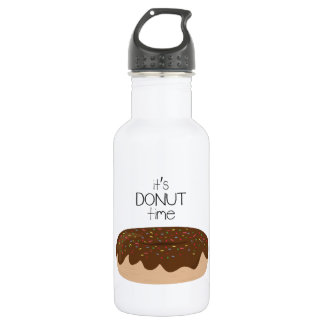 Its Donut Time 18oz Water Bottle