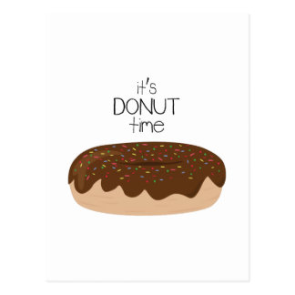 Its Donut Time Postcard